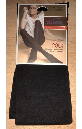 Panty 280 Denier - zwart