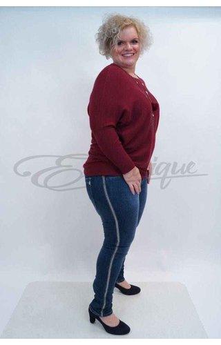 Karostar Karostar Stretch Jeans met ritssluiting  (K8170)