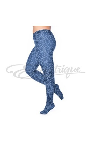 Pamela Mann Pamela Mann - 50 Denier Curvy Tights Leopard Denim Blue