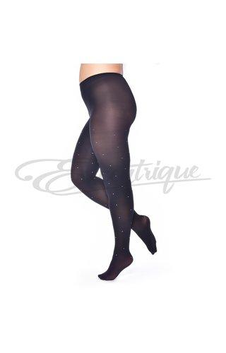 Pamela Mann Pamela Mann - 50D panty zwart met diamant studs