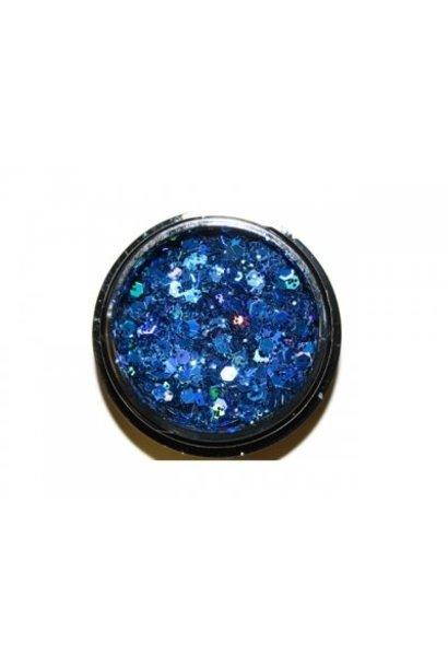 Hexagon Mix Denim Blue - BeautyNail