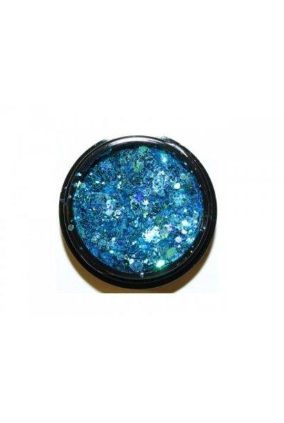 Hexagon Mix Light Blue - BeautyNail