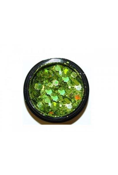 Heaxagon Mix Light Green - BeautyNail