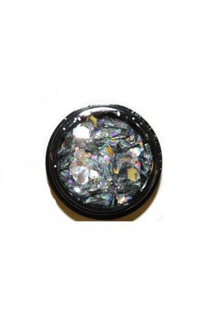 Hexagon Mix Silver - BeautyNail