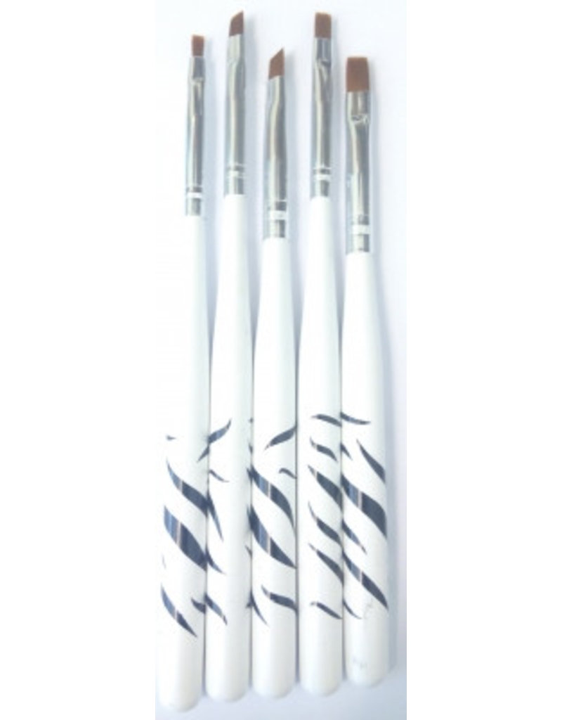NailArt Pinsel-Set Zebra(5teilig) - BeautyNail
