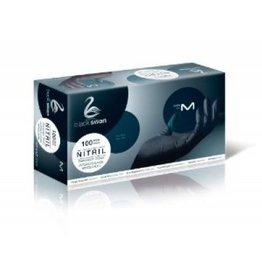100 Nitril-Handschuhe S Black Swan