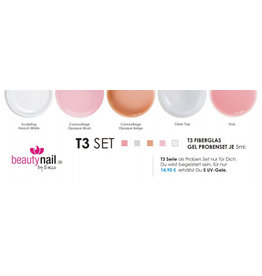 T3 UV Gel Proben Set02 5x 5ml