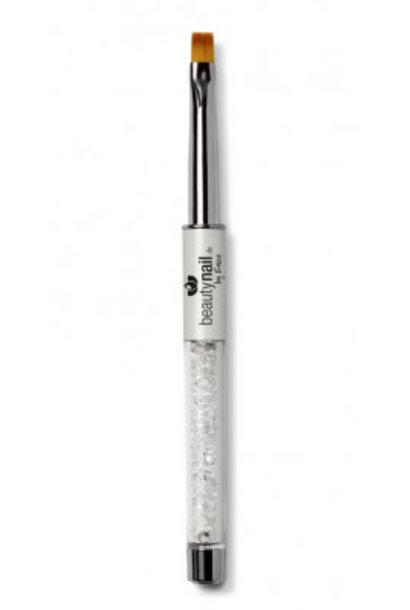 Luxus-Line Gel Pinsel  Gr.6 White mit Strass
