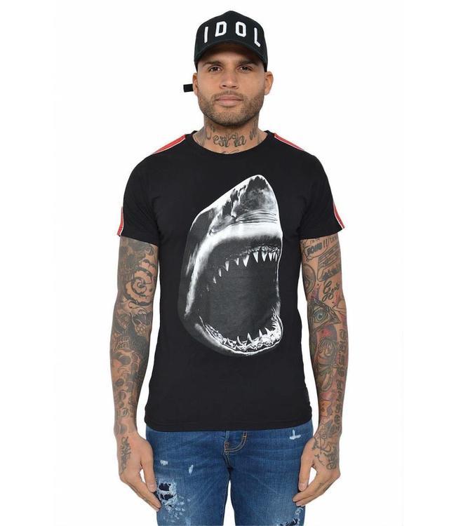 CONFLICT CONFLICT SHARK T-SHIRT ZWART