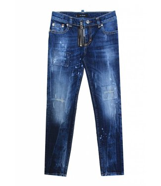 My brand MY BRAND PIETRO 030 ZIPPER DESTROYED JEANS BLAUW