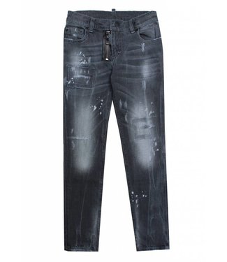 My brand MY BRAND PIETRO 030 ZIPPER DESTROYED JEANS - GRIJS