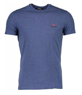 DSQUARED2 DSQUARED2 BASIS T-SHIRT - BLAUW