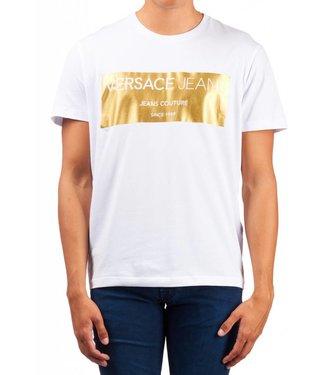 VERSACE JEANS VERSACE T-SHIRT COUNTURE GOLD - WIT