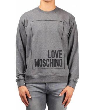 LOVE MOSCHINO LOVE MOSCHINO LOG BOX SWEATER (M670 30) - DONKER GRIJS