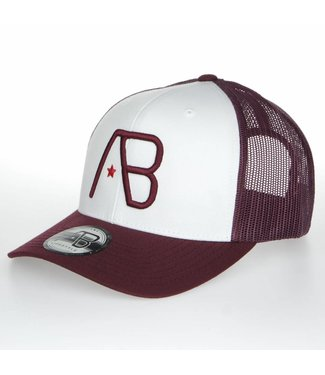 AB LIFESTYLE AB RETRO TRUCKER PET - MAROON/WIT