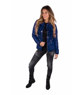 ROYAL TEMPTATION ROYAL TEMPTATION SABRINA JACKET - BLAUW