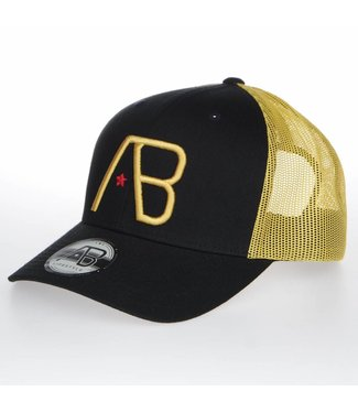 AB LIFESTYLE AB RETRO TRUCKER PET - ZWART| GEEL