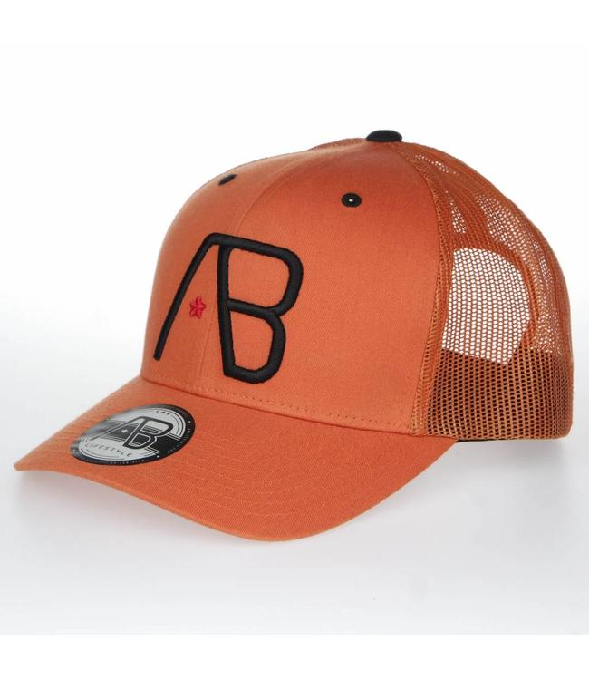 AB LIFESTYLE AB RETRO TRUCKER PET - ORANJE | ZWART