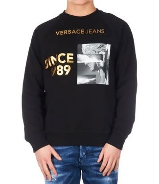 VERSACE JEANS VERSACE JEANS LIGHT SWEATER - ZWART (B7GTA7FZ)
