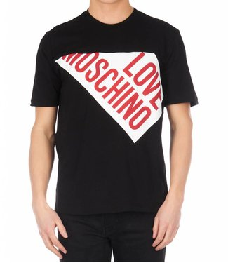 LOVE MOSCHINO LOVE MOSCHINO T-SHIRT (M 4 767 01 M 387) ZWART/WIT/ROOD