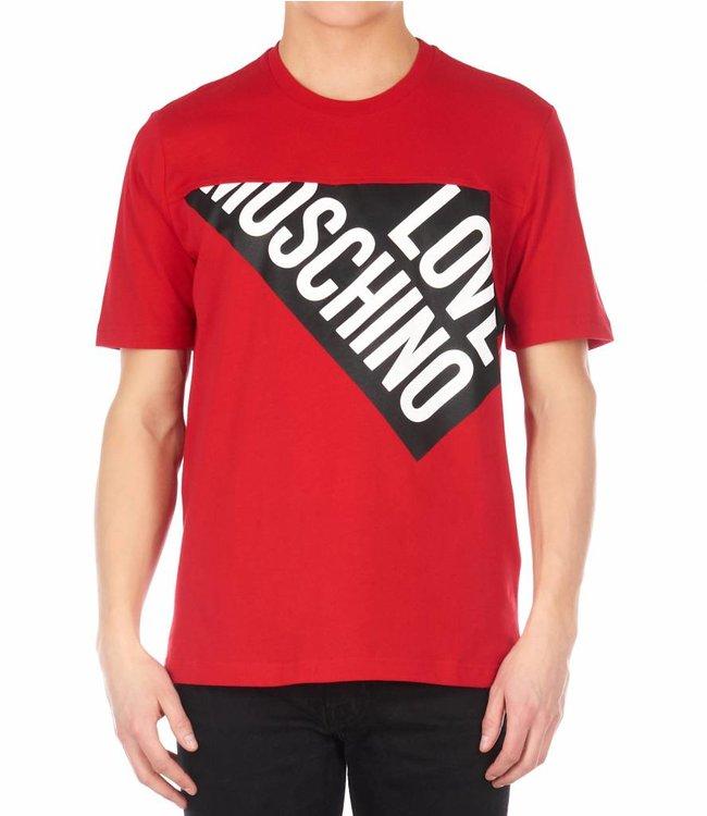 LOVE MOSCHINO LOVE MOSCHINO T-SHIRT (M 4 767 01 M 387)  ROOD/ZWART/WIT