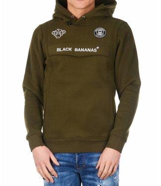 BLACK BANANAS BLACK BANANAS F.C. ANORAK HOODIE MOSS GROEN