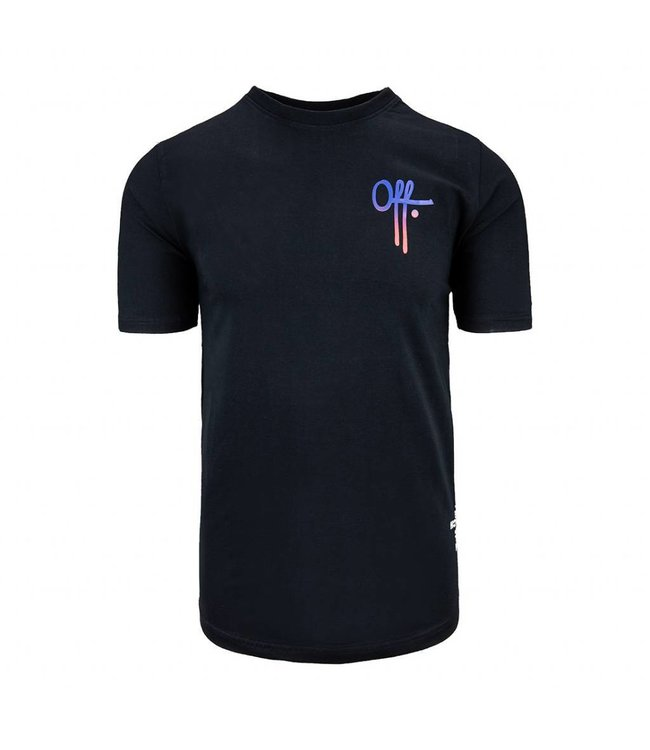 OFF THE PITCH OFF THE PITCH FULL STOP T-SHIRT - ZWART