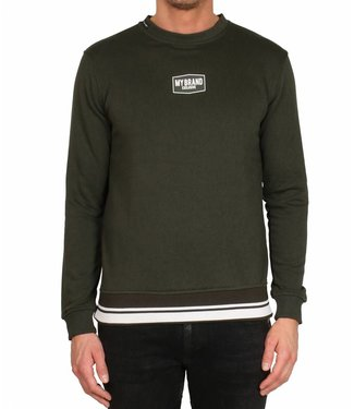 My brand MY BRAND BOARDED BADGE SWEATER - GROEN