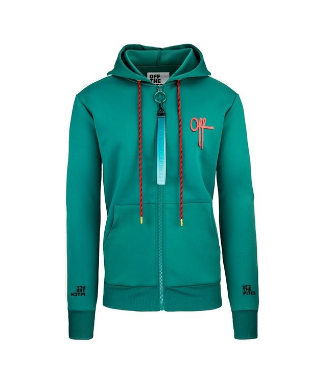 OFF THE PITCH OFF THE PITCH VALUEBET TRACKTOP - GROEN/WIT