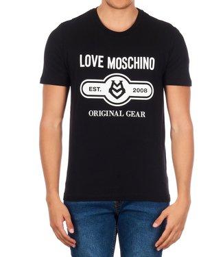 LOVE MOSCHINO LOVE MOSCHINO ORIGINAL GEAR T-SHIRT - ZWART