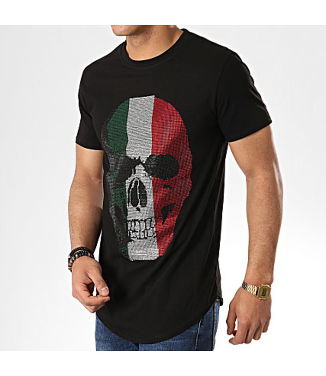 UNIPLAY UNIPLAY DIAMOND SKULL T-SHIRT - ZWART (ZS008)