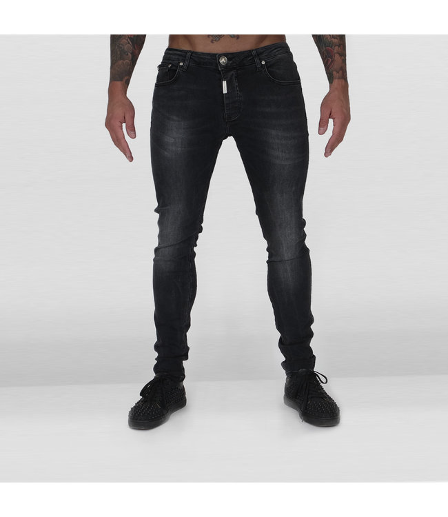 AB LIFESTYLE AB DENIM JEANS EXTRA STRETCH - ZWART