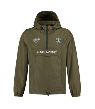 BLACK BANANAS BLACK BANANAS F.C. ANORAK  WINDBREAKER - MOSS GROEN