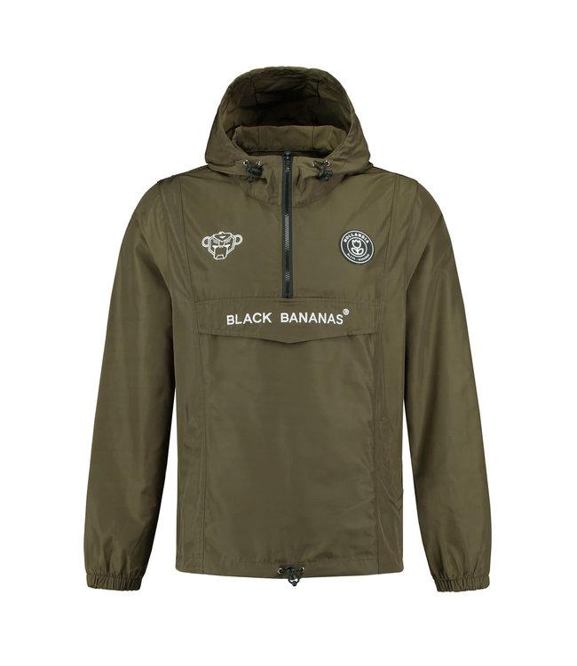 BLACK BANANAS BLACK BANANAS F.C. ANORAK  WINDBREAKER - MOSS GROEN