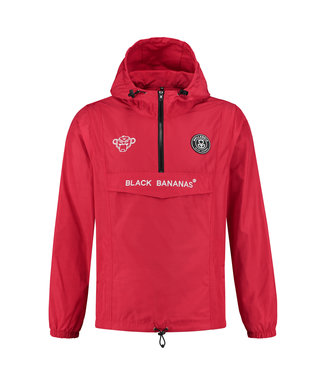 BLACK BANANAS BLACK BANANAS F.C. ANORAK  WINDBREAKER - ROOD