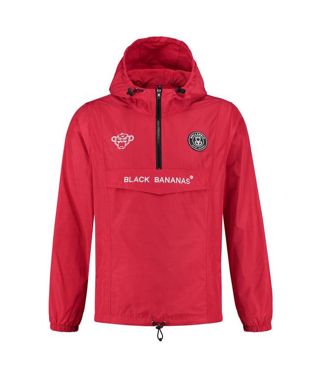 BLACK BANANAS BLACK BANANAS F.C. ANORAK  WINDBREAKER - ROOD