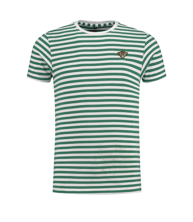 BLACK BANANAS BLACK BANANAS STRIPED BASIC T-SHIRT - GROEN