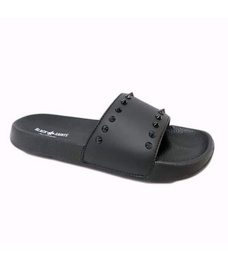 BLACK SAINTS STUD SLIPPERS - ZWART