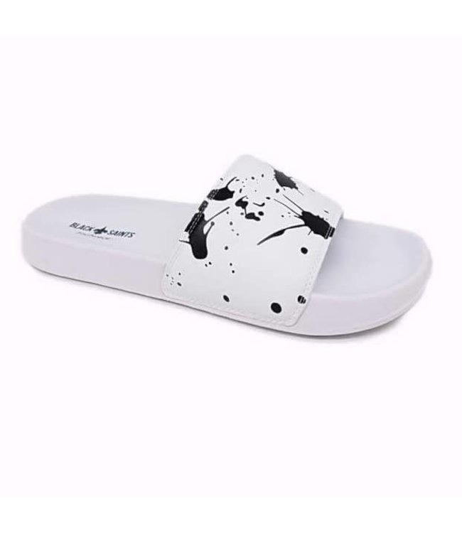 BLACK SAINTS BLACK SAINTS SPLASH SLIPPERS - WIT