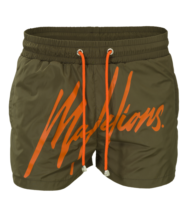 MALELIONS MALELIONS SWIMSHORT SIGNATURE - ARMY