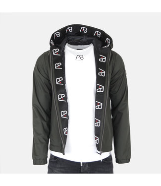 AB LIFESTYLE AB HOODED SUMMER JACKET - ARMY GREEN