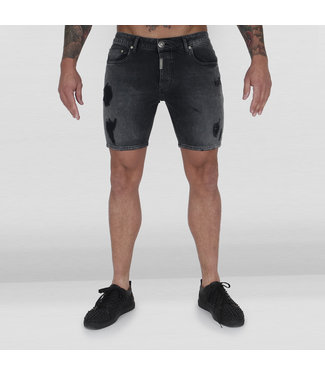 AB LIFESTYLE AB SHORT DENIM JEANS - DARK GREY