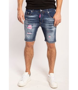 My brand MY BRAND WASHED 1D SHORT JEANS - BLAUW