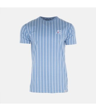 AB LIFESTYLE AB STIRPED T-SHIRT - BLAUW