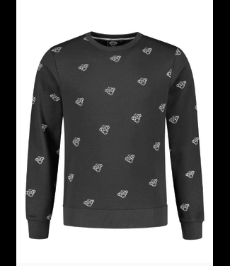 BLACK BANANAS BLACK BANANAS ALL OVER CREWNECK - ZWART