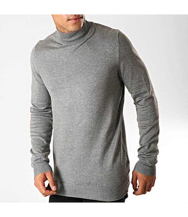 BRUNO LEONI BRUNO LEONI TURTLENECK SLIM FIT - GRIJS (M-823)