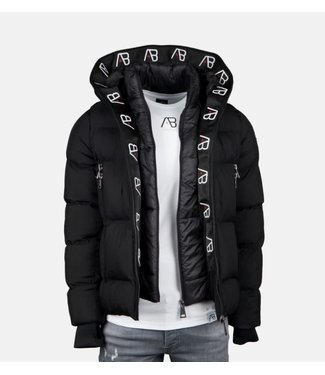 AB LIFESTYLE AB HOODED WINTER DOWN JACKET - ZWART