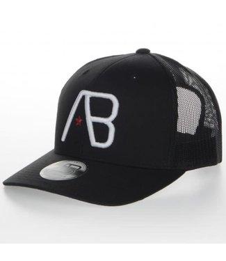 AB LIFESTYLE AB TRUCKER CAP - ZWART/WIT