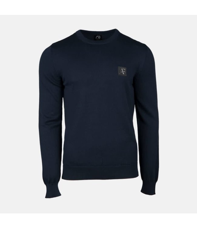 AB LIFESTYLE AB ESSENTIAL TRICOT SWEATER - NAVY