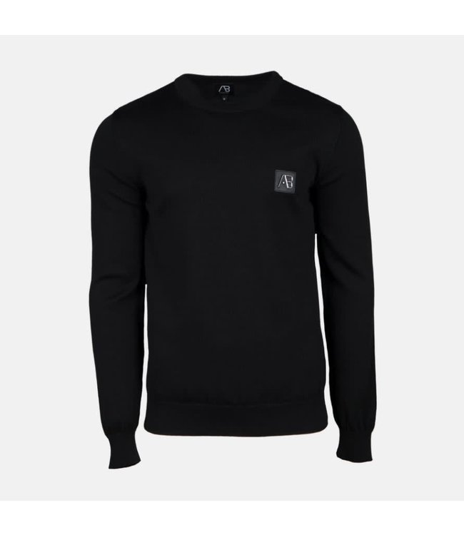 AB LIFESTYLE AB ESSENTIAL TRICOT SWEATER - ZWART